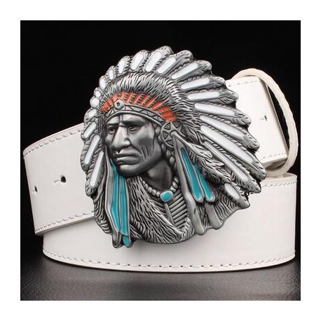 Boucle de ceinture tete d'indien