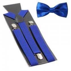 Bretelles bleu nuit avec noeud papillon