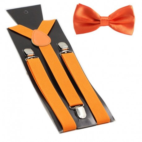 Bretelle orange avec noeud papillon
