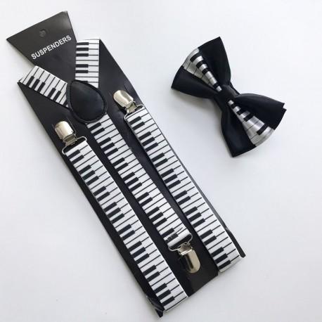 Bretelles avec motif musique