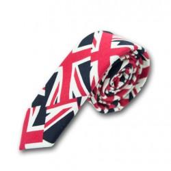 Cravate drapeau anglais (noir & rouge)