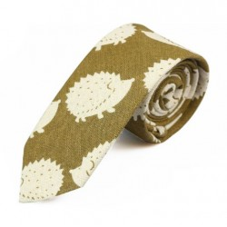 Cravate hérisson vert venin