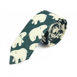 Cravate Verte Motif Ours