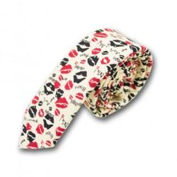 Cravate à Motif Rouge à Lèvre