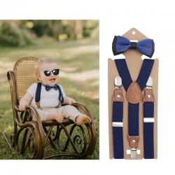 Bretelles bleu marine pour bébé