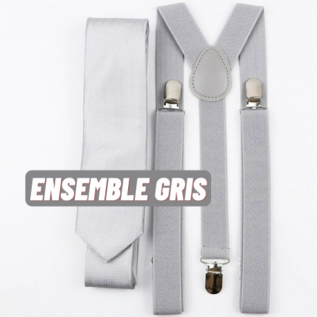Ensemble bretelle cravate pour homme